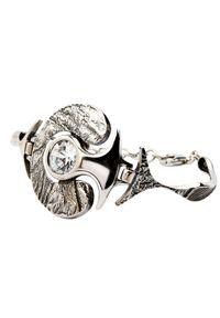 Srebrna bransoletka srebrna, z cyrkonią