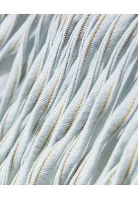 ONETEASPOON - Jeansowa kurtka z frędzlami Trucker. Kolor: niebieski. Materiał: jeans. Długość: długie