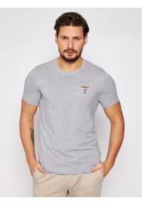 Aeronautica Militare T-Shirt 211TS1580J372 Szary Regular Fit. Kolor: szary