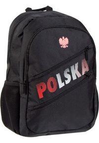 Starpak Plecak szkolny Polska czarny. Kolor: czarny