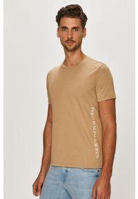 Polo Ralph Lauren - T-shirt. Okazja: na co dzień. Typ kołnierza: polo. Kolor: brązowy. Materiał: dzianina. Wzór: gładki. Styl: casual