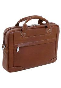 Torba na laptopa MCKLEIN Montclare 13.3 cali Brązowy. Kolor: brązowy. Styl: biznesowy