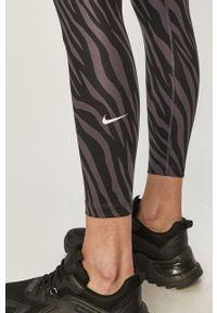 Fioletowe legginsy Nike z podwyższonym stanem