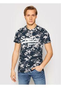 Superdry T-Shirt Vl Aop M1010999A Granatowy Regular Fit. Kolor: niebieski