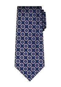 Vistula Krawat Palmer XY1043 Granatowy. Kolor: niebieski