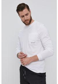 Calvin Klein Jeans - Longsleeve. Okazja: na co dzień. Kolor: biały. Długość rękawa: długi rękaw. Styl: casual