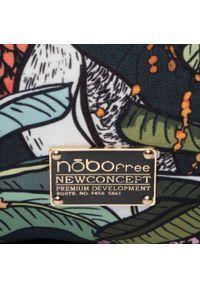 Zielona torebka worek Nobo casualowa, w kolorowe wzory