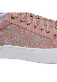 Różowe sneakersy Liu Jo na co dzień, z cholewką