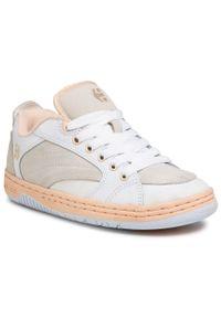 Białe sneakersy Etnies z cholewką