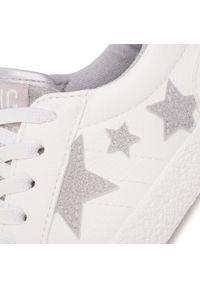 Białe półbuty Big-Star z aplikacjami, z cholewką