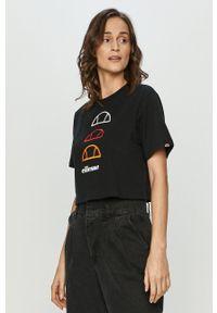 Ellesse - T-shirt. Kolor: czarny. Wzór: aplikacja