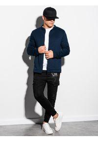 Niebieska bluza Ombre Clothing bez kaptura #5
