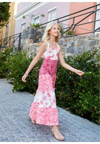 Letnia sukienka dziewczęca bonprix biel wełny - jeżynowo-czerwony. Kolor: biały. Materiał: wełna. Sezon: lato #6