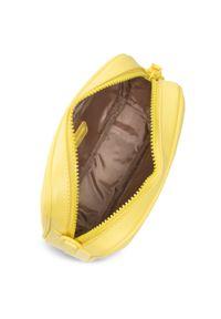 Torebka QUAZI - RX90027 Yellow. Kolor: żółty. Materiał: skórzane. Styl: klasyczny