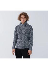 House - Sweter z regulowanym golfem - Granatowy. Typ kołnierza: golf. Kolor: niebieski