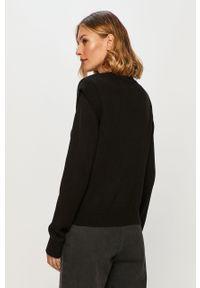 Czarny sweter Noisy may długi, na co dzień, casualowy, z okrągłym kołnierzem