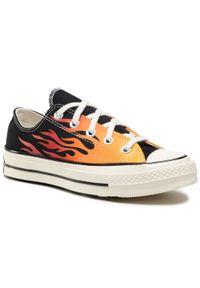 Pomarańczowe buty sportowe Converse z cholewką