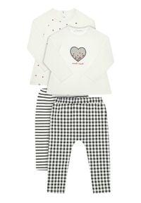 Mayoral Komplet bluzka i legginsy 2628 Biały Regular Fit. Kolor: biały