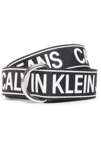 Calvin Klein Jeans - Pasek Męski CALVIN KLEIN JEANS - Double D Ring Tape 40mm K50K506423 BDS. Kolor: czarny. Materiał: materiał