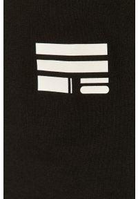 Czarna koszulka z długim rękawem G-Star RAW casualowa, z nadrukiem, na co dzień