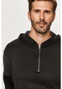 Czarna bluza nierozpinana Armani Exchange casualowa, na co dzień, krótka, z kapturem