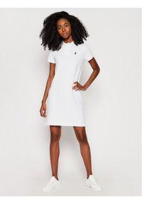 Biała sukienka dzianinowa Polo Ralph Lauren prosta, na co dzień, polo, casualowa