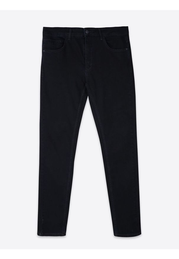 Niebieskie spodnie TOP SECRET na co dzień, w kolorowe wzory, długie, na lato