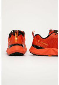 Pomarańczowe sneakersy columbia na sznurówki, z cholewką