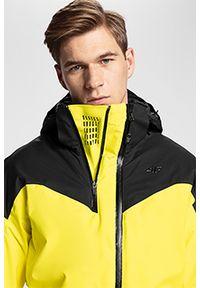 Żółta kurtka narciarska 4f Dermizax, ze stójką, na zimę, plus size