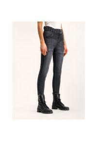 Czarne jeansy slim The Kooples