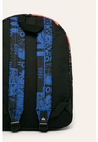 Czarny plecak Quiksilver z aplikacjami