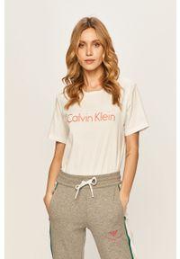 Biała bluzka Calvin Klein Underwear casualowa, na co dzień