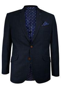 Niebieska marynarka Casino w kratkę, elegancka