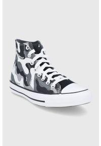 Converse - Trampki. Nosek buta: okrągły. Zapięcie: sznurówki. Kolor: szary. Materiał: guma