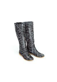 Czarny kozaki Zapato klasyczny, wąskie, z okrągłym noskiem, na lato