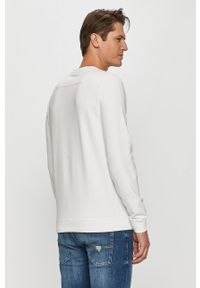 Biała bluza nierozpinana Guess na co dzień, bez kaptura, casualowa, z nadrukiem