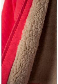 Różowa bluza rozpinana GAP casualowa, z kapturem, z aplikacjami, na co dzień