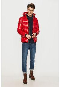 Czerwona kurtka Geox casualowa, na co dzień, z kapturem