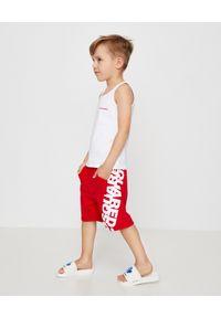 DSQUARED2 KIDS - Biały top z logo 4-16 lat. Kolor: biały. Materiał: materiał. Długość rękawa: na ramiączkach. Sezon: lato