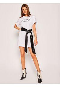 Biała sukienka DKNY Sport sportowa, na co dzień