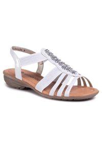 Srebrne sandały Remonte casualowe, na co dzień
