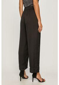 Czarne spodnie materiałowe DKNY na co dzień, casualowe