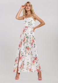 Renee - Biała Sukienka Be Accessible. Kolor: biały. Długość rękawa: na ramiączkach. Typ sukienki: proste. Długość: maxi