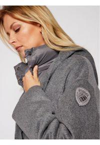 Szary płaszcz zimowy Blauer