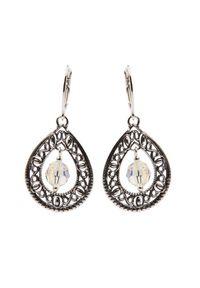 Polcarat Design - Kolczyki srebrne z kryształami Swarovskiego K 1122. Materiał: srebrne. Kolor: srebrny. Wzór: aplikacja. Kamień szlachetny: kryształ