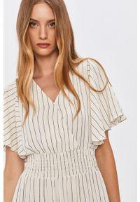 Biała sukienka Answear Lab maxi, z krótkim rękawem, na co dzień