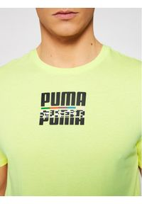 Puma T-Shirt Core International 587768 Żółty Regular Fit. Kolor: żółty #4