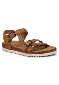 Brązowe sandały Nelli Blu z aplikacjami, na lato, casualowe