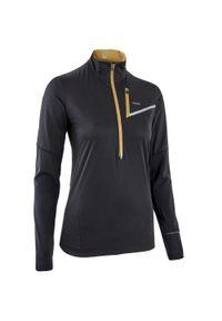 EVADICT - Bluza do biegania w terenie damska Evadict softshell. Kolor: czarny, beżowy, wielokolorowy. Materiał: softshell