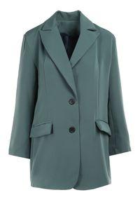 Born2be - Zielona Marynarka Pentherine. Kolor: zielony. Długość: długie. Styl: wizytowy, elegancki #5